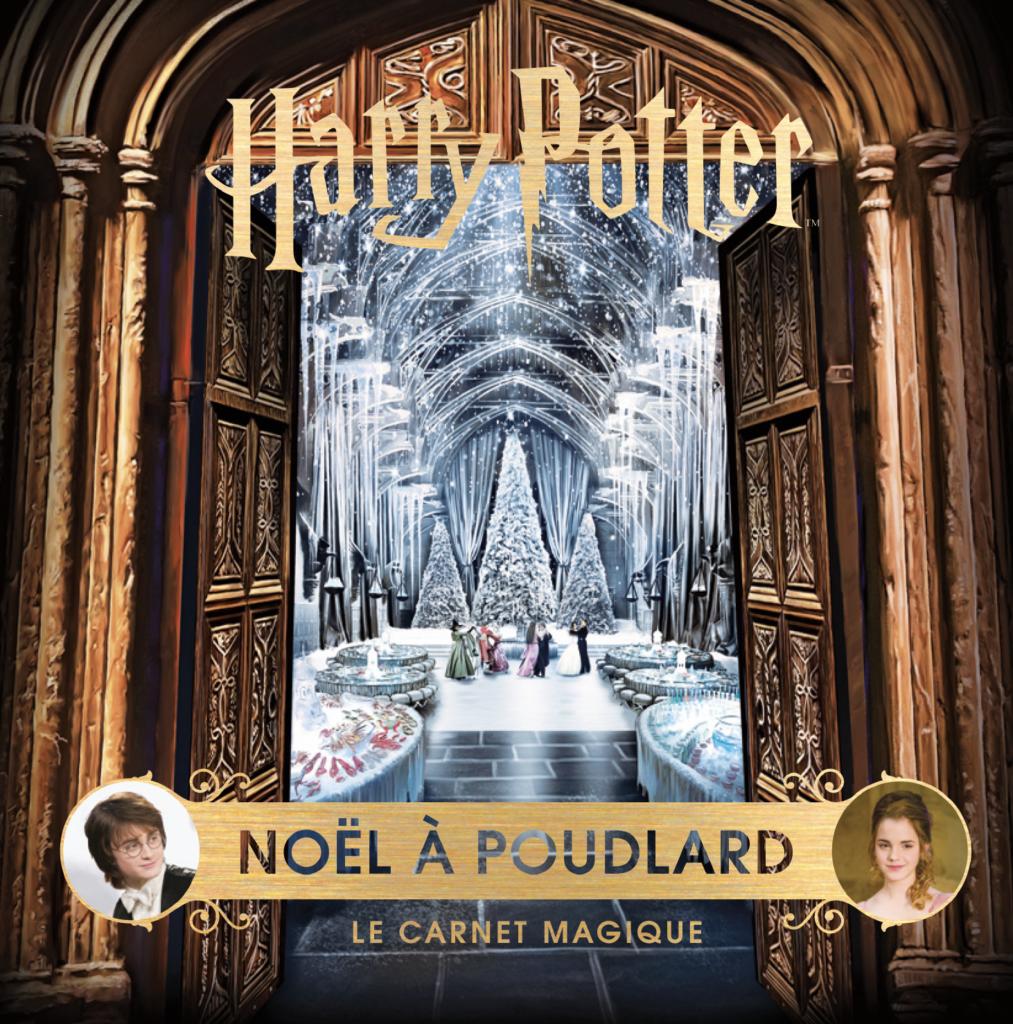 Couverture de Noël à Poudlard - Le Carnet Magique aux éditions Gallimard Jeunesse