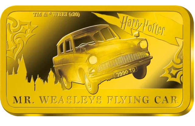 Lingot d'or Harry Potter Ford Anglia