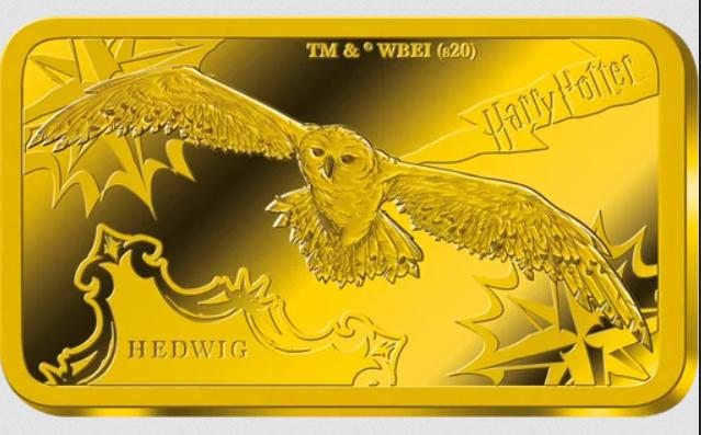 Lingot d'or Harry Potter  Hedwige