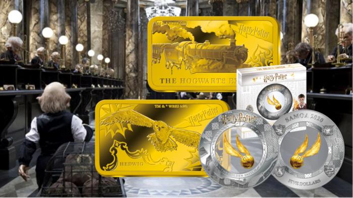 Des lingots d'or et d'argent à l'effigie de Harry Potter