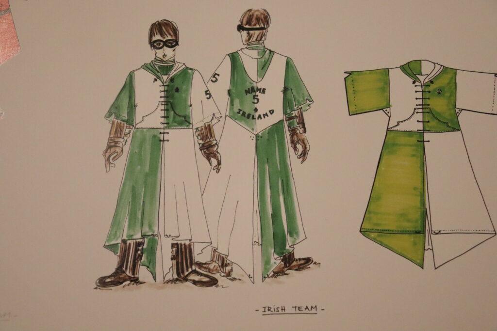 Tenue de l'équipe de quidditch d'Irlande - dessin