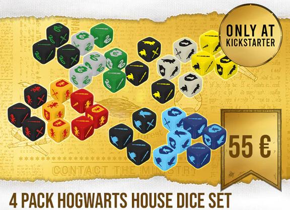 Jeu de figurines quidditch - dés 4 maisons