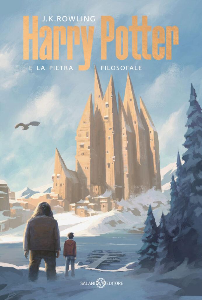 Couverture de Harry Potter à l'école des sorcier italienne, janvier 2021 (Harry Potter e la pietra filosofale) - Poudlard