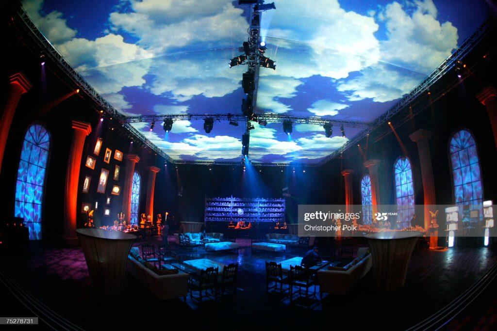 Espace intérieur lors de la soirée de gala pour le film Harry Potter et l'Ordre du Phénix - ciel magique