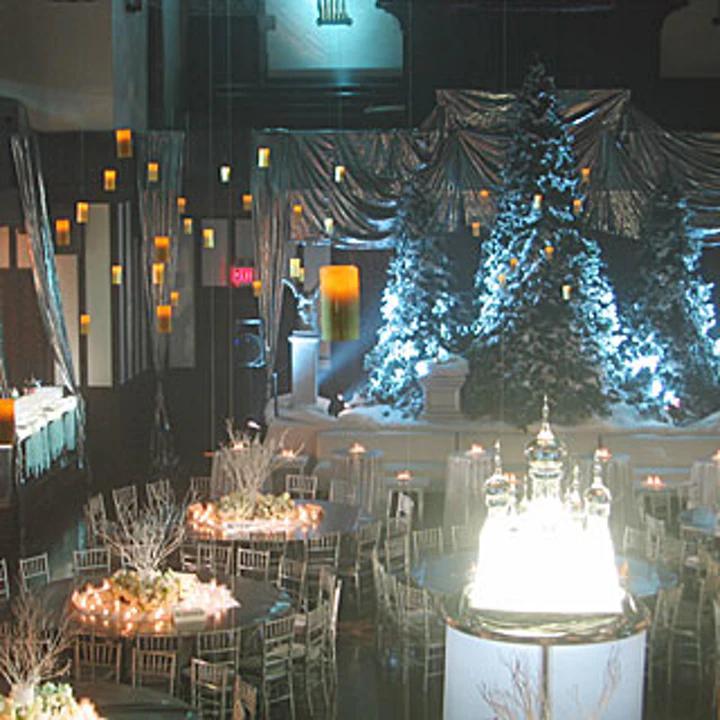 La salle principale évoquant le Bal de Noël à Poudlard lors de la soirée de gala pour le film Harry Potter et la Coupe de Feu