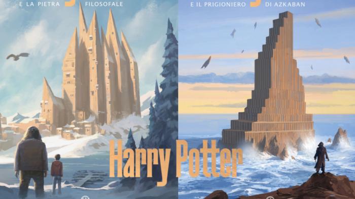 De nouvelles couvertures très modernes pour Harry Potter en Italie