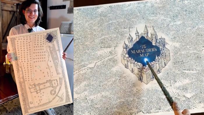 Un fan créé une carte du Maraudeur interactive en réalité augmentée