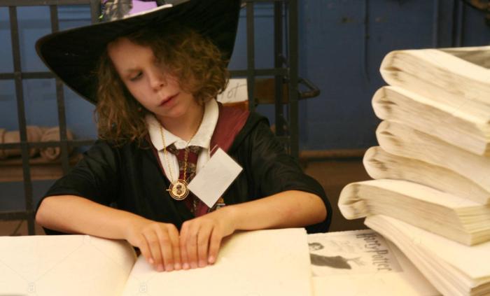Harry Potter en braille, un «miracle» de Noël