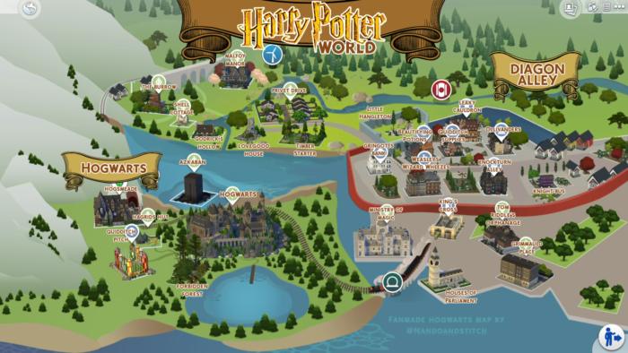 Le monde magique de Harry Potter recréé dans Les Sims 4