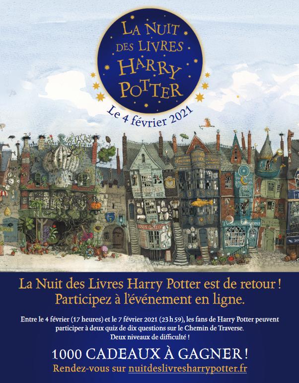 Le programme officiel de la Nuit des Livres Harry Potter 2021 par Gallimard Jeunesse