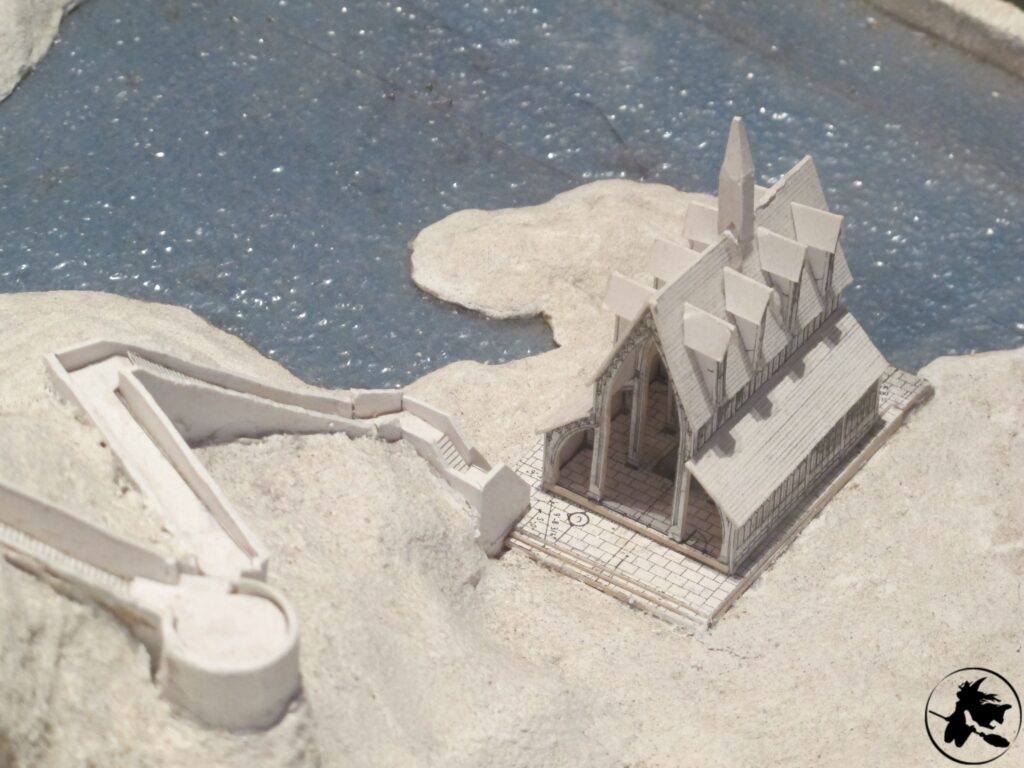 Maquette du hangar à bateaux de Poudlard pour Harry Potter et les Reliques de la Mort au Warner Bros. Studio Tour London: the Making of Harry Potter