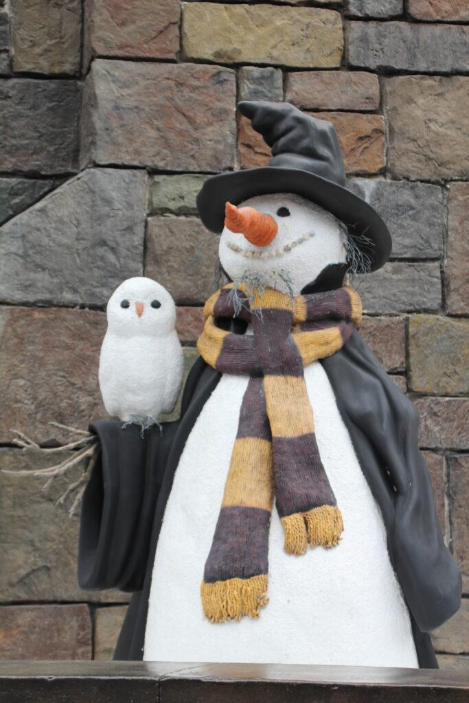 Un bonhomme de neige Harry Potter au Wizarding World of Harry Potter Universal Orland