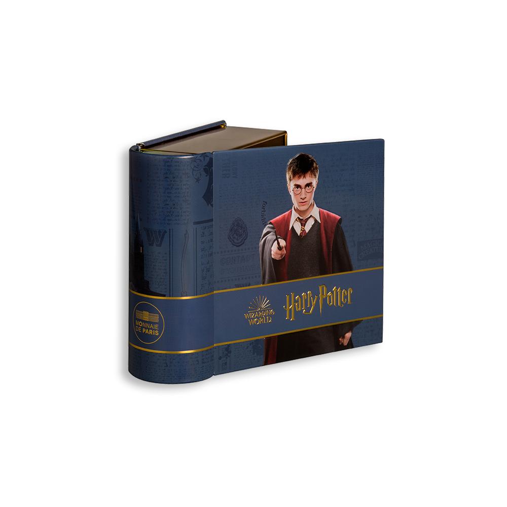 Ecrin de la médaille trio Harry Potter presse-papier en bronze frappée par la monnaie de Paris pour les 20 ans de la saga Harry Potter