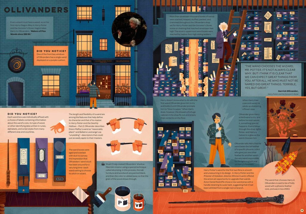 Aperçu de Harry Potter - Exploring Diagon Alley, an illustrated guide