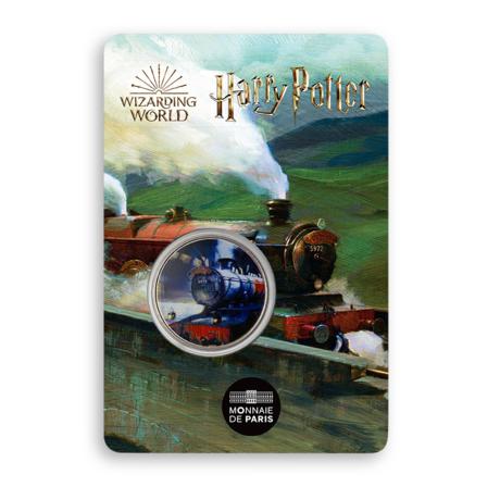 Médaille Poudlard Express sous blister frappée par la monnaie de Paris pour les 20 ans de la saga Harry Potter