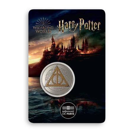 Médaille Reliques de la mort sous blister frappée par la monnaie de Paris pour les 20 ans de la saga Harry Potter