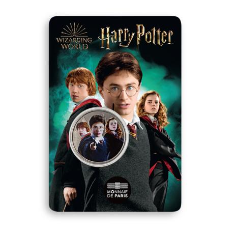 Médaille trio Harry Ron et Hermione sous blister frappée par la monnaie de Paris pour les 20 ans de la saga Harry Potter