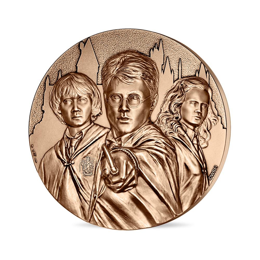 Médaille trio Harry Potter presse-papier en bronze frappée par la monnaie de Paris pour les 20 ans de la saga Harry Potter