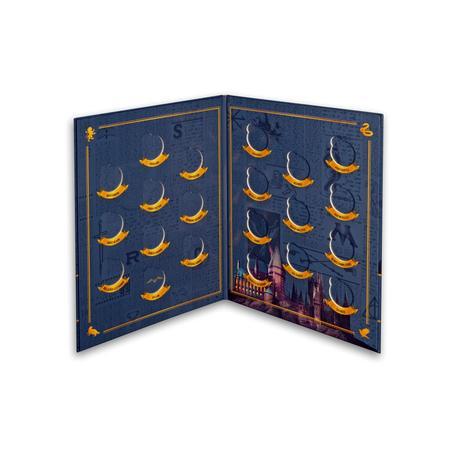 Album pour la collection de Mini-Médailles collector Harry Potter en sachets mystères frappées par la monnaie de Paris pour les 20 ans de la saga Harry Potter