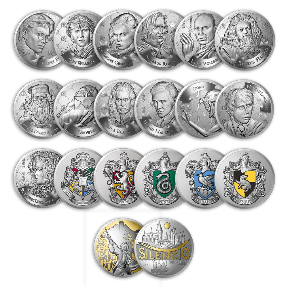 Mini-Médailles collector Harry Potter en sachets mystères frappées par la monnaie de Paris pour les 20 ans de la saga Harry Potter