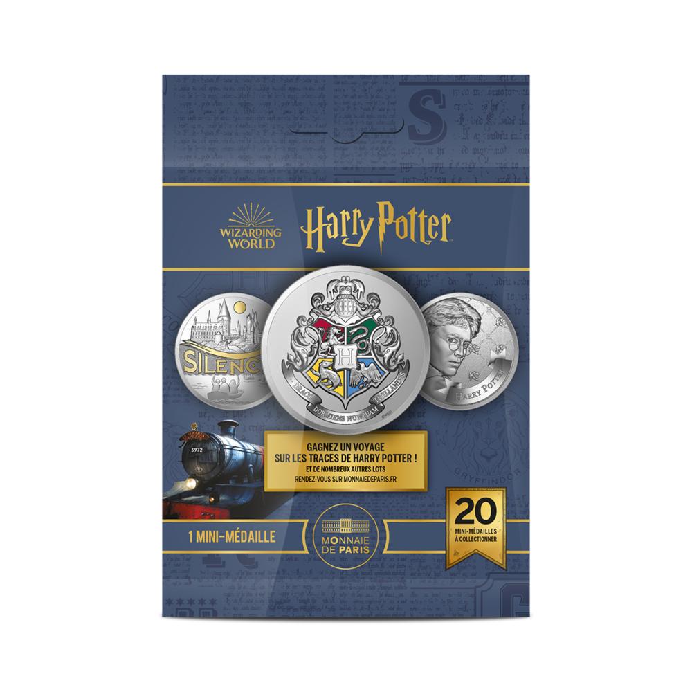 Sachet mystère de la collection de Mini-Médailles collector Harry Potter en sachets mystères frappées par la monnaie de Paris pour les 20 ans de la saga Harry Potter