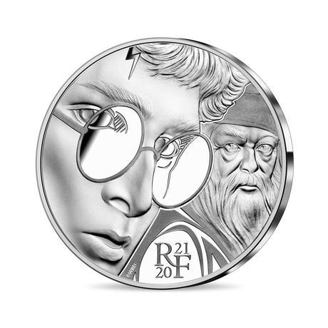Pièce collector Harry Potter en rgent 10€ frappée par la monnaie de Paris pour les 20 ans de la saga Harry Potter