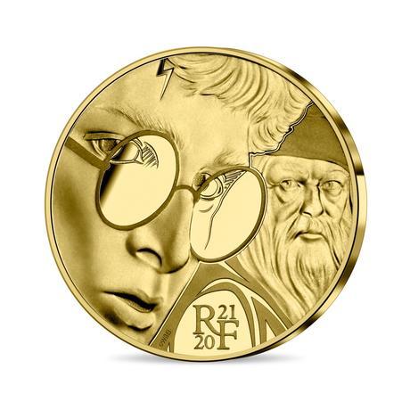 Pièce collector Harry Potter en or 50€ frappée par la monnaie de Paris pour les 20 ans de la saga Harry Potter