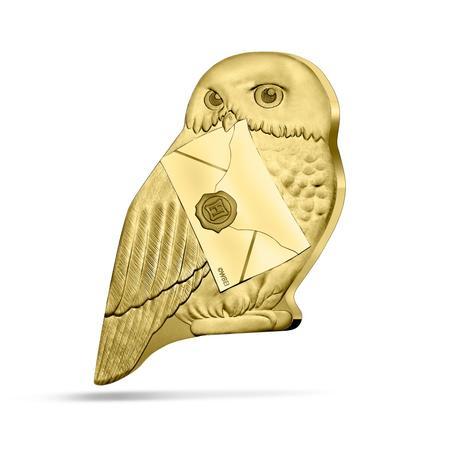 Pièce collector Hedwige en or frappée par la monnaie de Paris pour les 20 ans de la saga Harry Potter