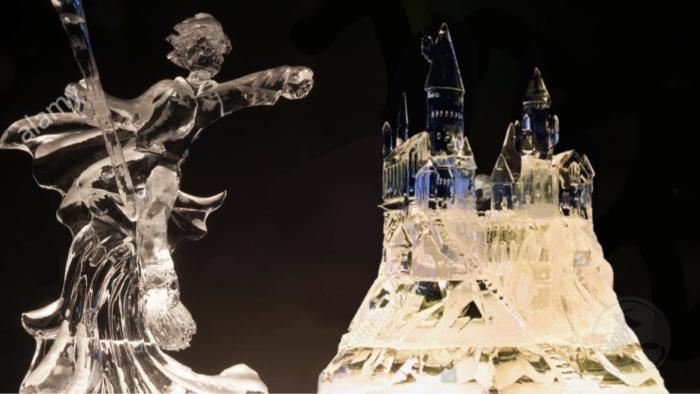 Les incroyables sculptures de glace Harry Potter