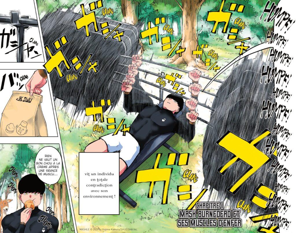 Extrait du manga Mashle (Kazé, 2021)