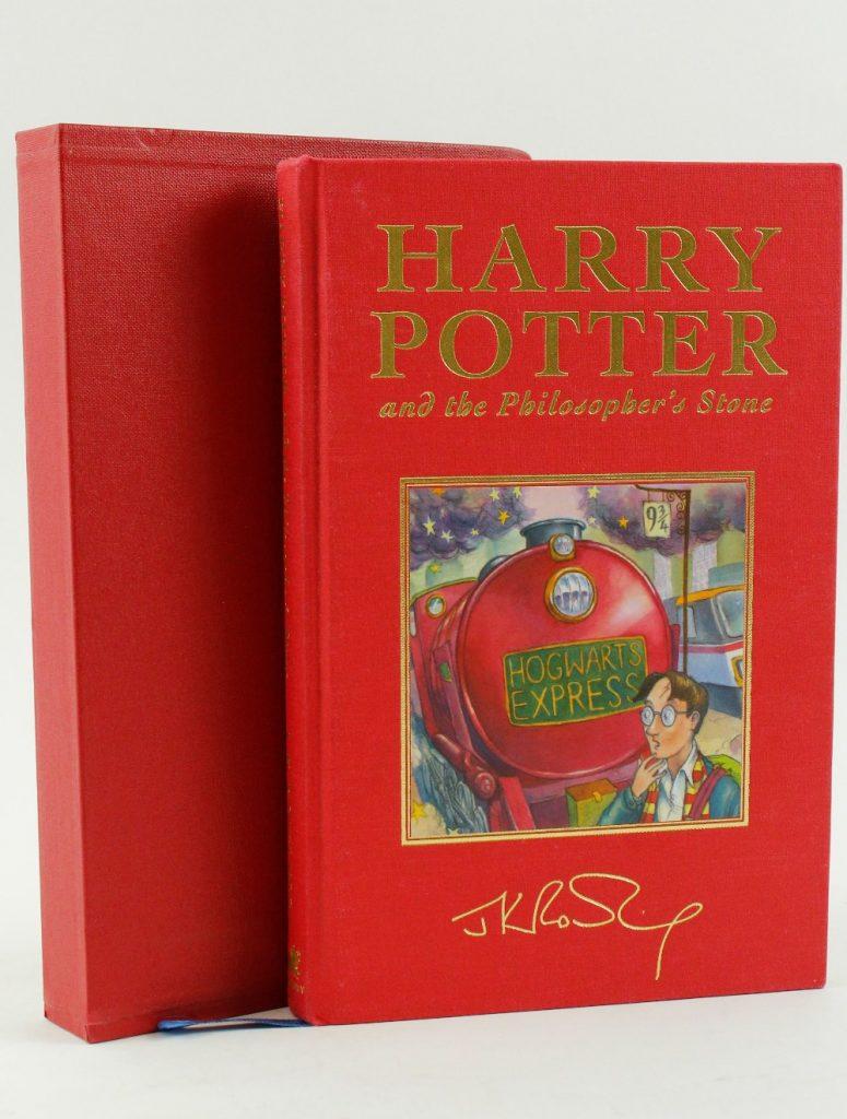 Première édition deluxe de Harry Potter and the Philosppher's Stone vendue par Fonsie Mealy Auctionneers