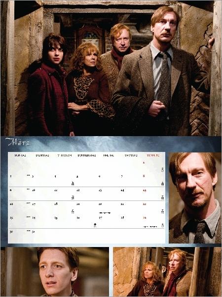 Différentes photographies de Remus, Tonks, Molly, arthur et Fred Weasley