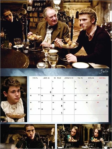 Photographies du premier repas organisé par Slughorn. McLaggen, Marcus Belby, Blaise Zabini,