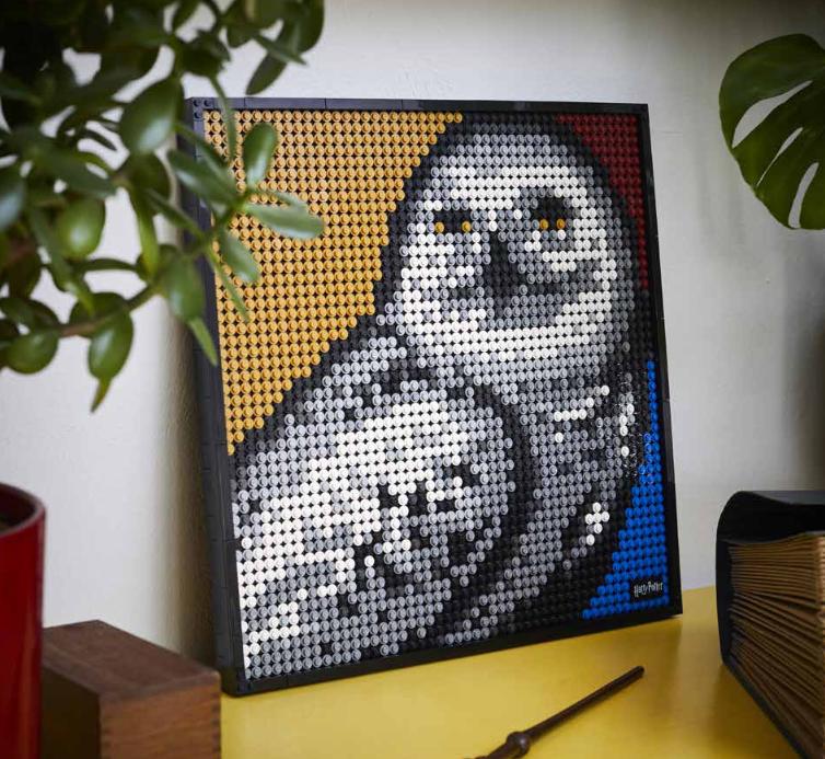 Version alternative LEGO Art Harry Potter - Hedwige