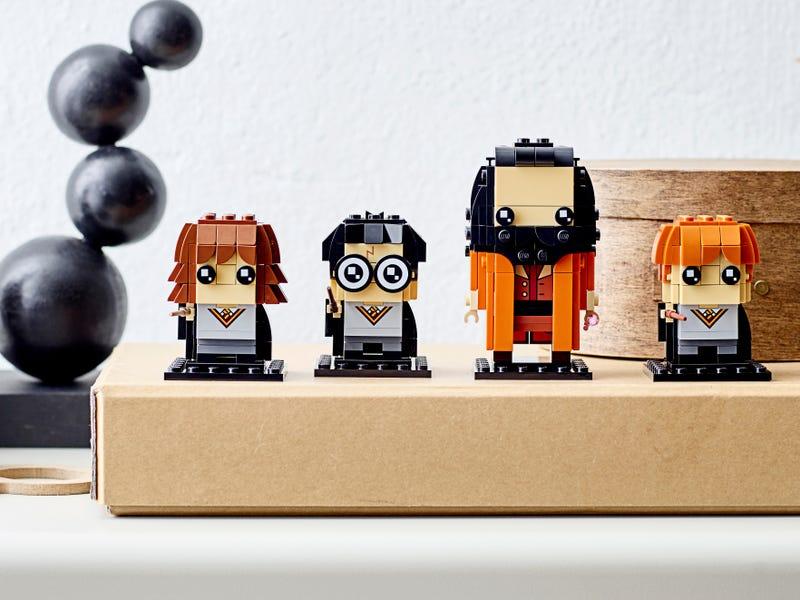 LEGO BrickHeadz avec Hagrid, Harry Potter, Ron Weasley et Hermione Granger.