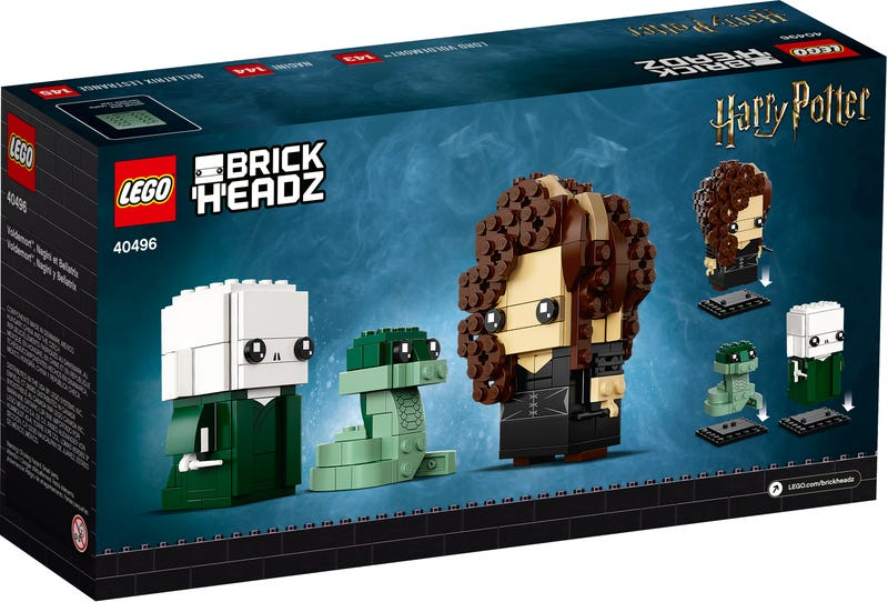 LEGO BrickHeadz avec Voldemort, Bellatrix et Nagini