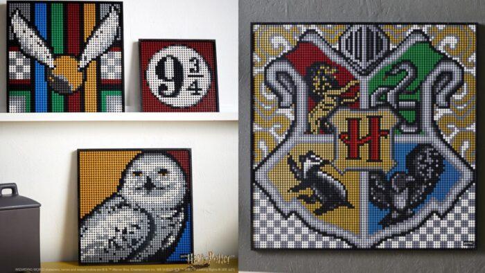 LEGO Art Harry Potter propose des alternatives aux blasons