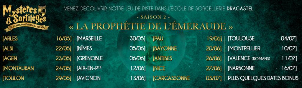 221B la prophétie de l'Emeraude jeu mystères et sortilèges saison 2 Sud de la France Harry Potter Ecole de magie et de sorcellerie