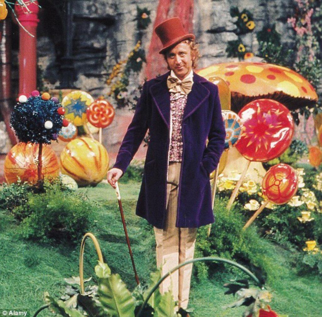 Gene Wilder dans le rôle de Willy Wonka, Charlie et la Chocolaterie (1971)