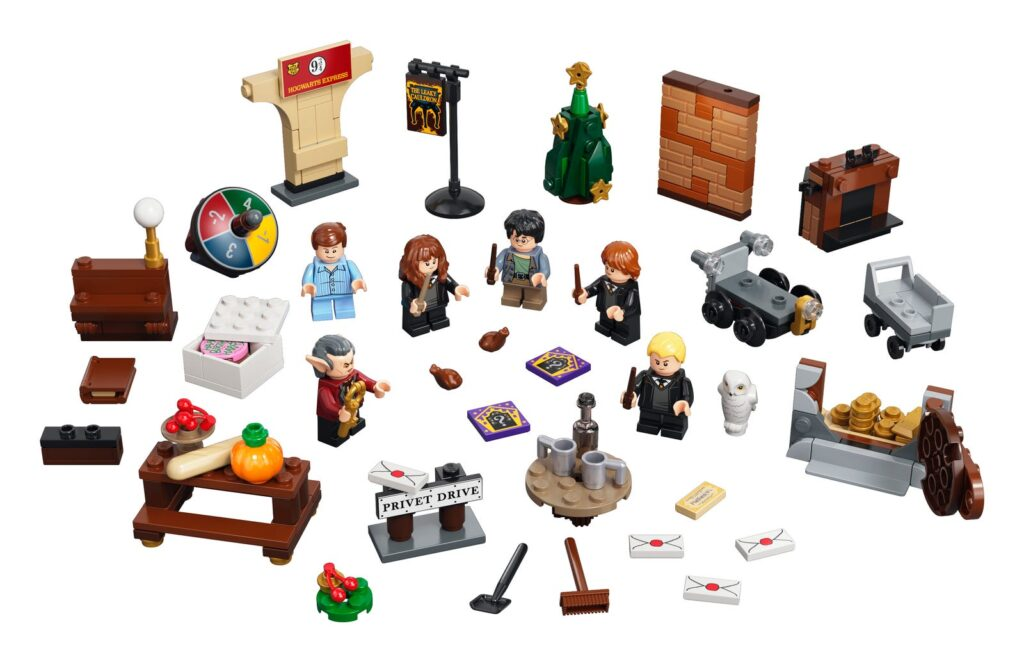 Calendrier de l'Avent Lego Harry Potter - éléments et contenu