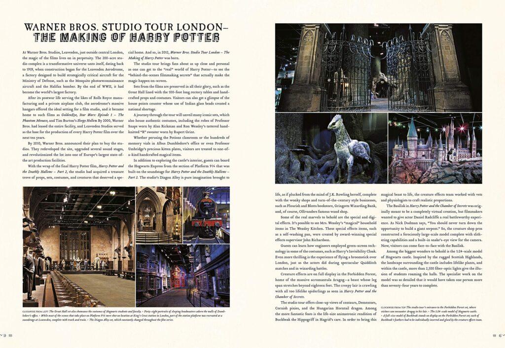 Aperçu du livre Harry Potter Des Romans à l'écran - page sur le Studio Tour
