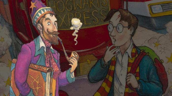 Harry Potter et le mystérieux sorcier des couvertures britanniques