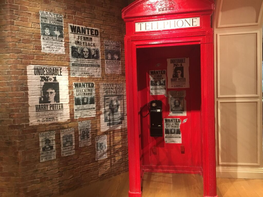Point photo Ministère de la magie dans la boutique Harry Potter de New York