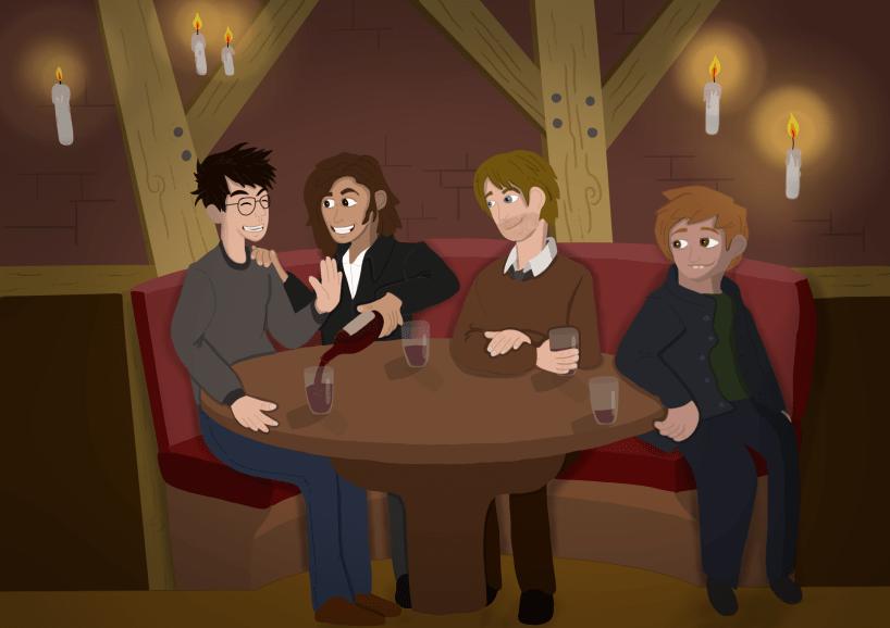 Illustration des quatre Maraudeurs