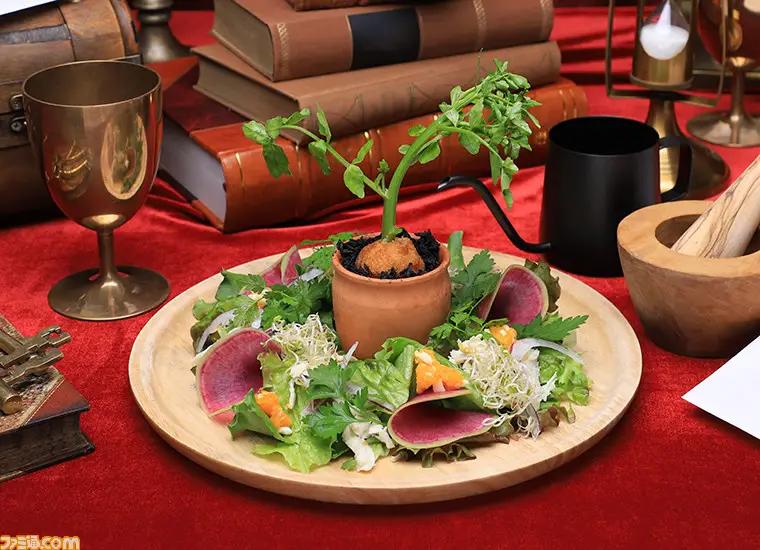 Salade mandragore dans le café Harry Potter officiel au Japon