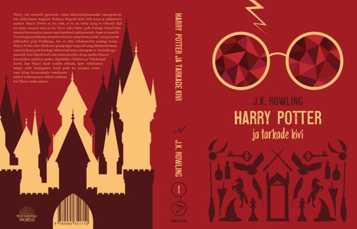 Les nouvelles couvertures estoniennes de Harry Potter, sobres et minimalistes