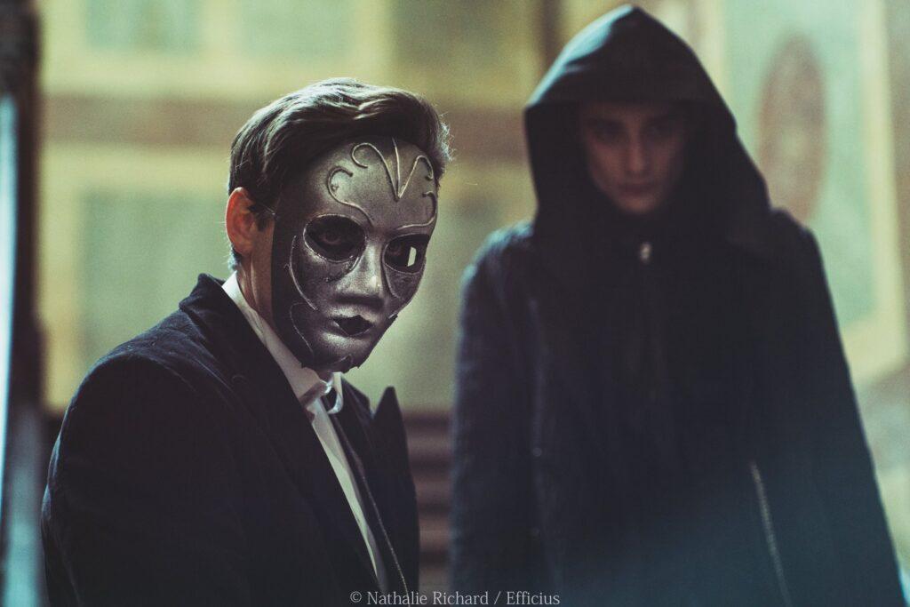 """Photo """"Voldemort et un mangemort"""" sur le tournage du fanfilm Harry Potter - The House of Gaunt"""