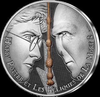 Pièce Harry Potter de 10€ en argent par la monnaie de Paris - Voldemort, Harry et la baguette de sureau