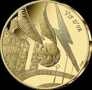 Pièce vif d'or Harry Potter de 250€ en or par la monnaie de paris