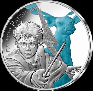 Pièce patronus Harry Potter de 50€ en argent par la monnaie de paris